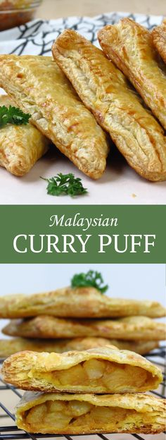 Malaysian Curry Puff - the classic Malaysian appetizer or snack. Full flavor, slightly spicy curry potatoes baked in a flaky puff pastry. It'll be one of the most yummy things you will ever put in your mouth! #malaysianfood #malaysian #malaysia #curry #potatoes #puffpastry #currypuff #malaysiancurrypuff #appetizer #snack