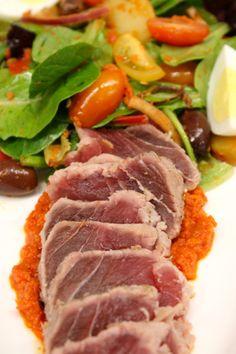 Seared Tuna Nicoise Salad #CapeCod #Summer2014 #Seafood #Tuna #REALCHICAGO #food #yum thedrakehotel.com/dining