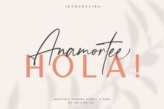 Ad: Anamortee // Modern Calligraphy Font by Vultype Co. on Popular Fonts From Vultype Co. - Batisde Font - - Aurelig - - Boilgo Font - - Quefira - Anamortee is lovely script and sans with beautiful Best Script Fonts, Handwritten Fonts, Cool Fonts, Awesome Fonts, Cursive Fonts, Monogram Fonts, Monogram Letters, Modern Calligraphy Font Free, Calligraphy Fonts