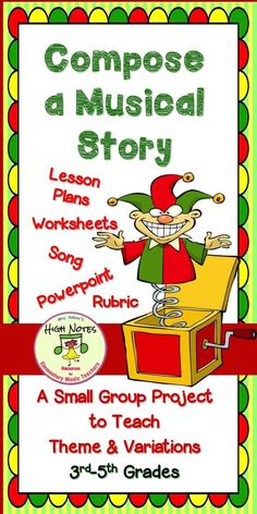 Teaching Theme and Variations. Divide your elementary music students into small groups for this great small-group project. Each group will create a variation using instruments and then put it together with the other groups compositions for a fun story! #elementarymusic #themeandvariation #themevariation #janisaston #aston
