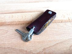 Horween Leather Keychain mens keychain key leather by PrimObject