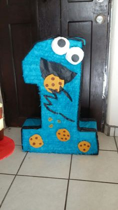 Number one birthday party/ cookie monster birthday party theme
