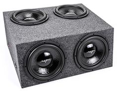 """Skar Audio Quad 12"""" 2000 Watt Loaded Subwoofer Enclosure - Includes 12"""" IX Series Dual 4 Ohm Subwoofers in Sealed Box. For product info go to:  https://www.caraccessoriesonlinemarket.com/skar-audio-quad-12-2000-watt-loaded-subwoofer-enclosure-includes-12-ix-series-dual-4-ohm-subwoofers-in-sealed-box/"""