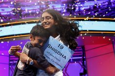 Winner of the National Spelling Bee with her brother. Adorable.