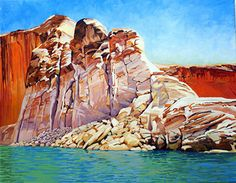 Serenity, Oil, 24x36 by Ron Larson Oil ~ 24 x 36, Lake Powell