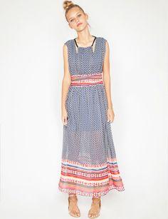 sunset print maxi dress