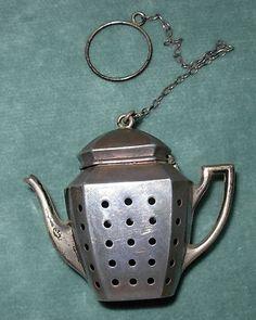 vintage sterling silver teapot tea infuser