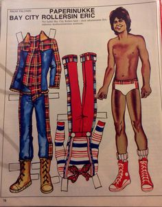 Finnish paper doll BCR/Eric 70's