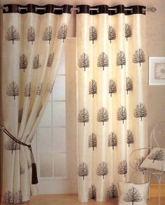 Window treatments using ready-made curtains in tab-top, tape-headed and other superb quality curtains and voiles from Linen, Lace and Patchwork House Teal Curtains, Cute Curtains, Modern Curtains, Cosy Home, Curtain Designs, Curtain Ideas, Window Coverings, Linen Bedding, Interior Decorating