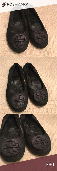 Tory Burch flats Tory Burch Flats iridescent deep purple in good condition some wear on inside and soles from use Tory Burch Shoes Flats & Loafers