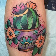 Colors cactus tattoo