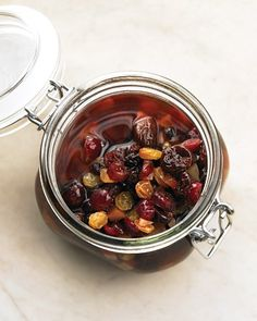 Macerated Fruit  The alcohol-soaked fruit you find in fruitcakes doesn't have to be limited to Christmas. Make macerated fruit year-round for a delicious, boozy treat that's actually quite versatile.
