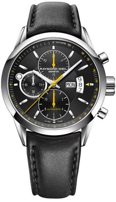 7730-STC-20021 NEW RAYMOND WEIL FREELANCER MENS WATCH Usually ships within 8 weeks - FREE Overnight Shipping - NO SALES TAX (Outside California)- WITH MANUFACTURER SERIAL NUMBERS - Black Dial - Day