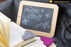 Wer noch auf der Suche nach kleinen Geschenken ist - wie wäre es mit Lesezeichen nähen - die süßen Herzen machen ein Buchgeschenk absolut persönlich.