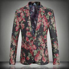 Aliexpress.com : Buy Floral Print Plus Size Gentlamen Blazer for Men Party Stage Fancy Notch Lapel Blazers from Reliable blazer shirt suppliers on oscn7 Store