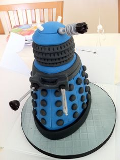Thought you guys may like the Dalek cake I had made for my sons birthday