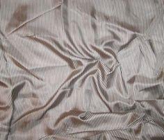 """Brown & White Stripe - Silk Twill (10""""x23"""")"""