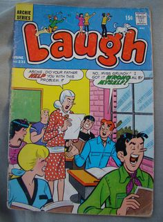 Archie Comics Laugh 1946 series No 231 by CallahanCollectibles, SOLD Old Comic Books, Vintage Comic Books, Vintage Comics, Archie Betty And Veronica, Romantic Comics, Good Buddy, Archie Comics, Book Cover Art, Calvin And Hobbes