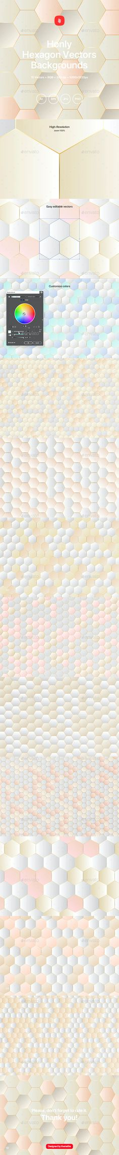 Honly - Hexagon Vector Backgrounds by themefire | GraphicRiver Line Background, Vector Background, Background Images Wallpapers, Backgrounds, Hexagon Vector, Vector File, Honeycomb, Instagram Story, Geometry