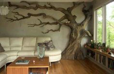 Tree Wall in Living Rooms tree wall decor stickers wall tree furniture tree wall paintings tree wall sculptures family tree wall decor stickers metal tree wa. Cat Room, Child's Room, Tree Wall Art, Tree Art, 3d Tree, Tree Wall Decor, Corner Wall Decor, Tree Branch Decor, Tree Wall Murals