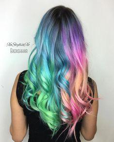 Hair stylist Ash Fortis @xostylistxo Split personality collaboration with Ashley Henderson @badashhair