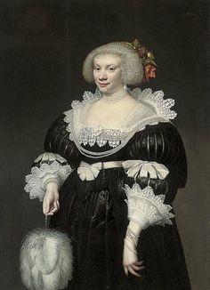 1631 Jan Anthonisz van Ravesteyn - Portrait of a Lady with a White Fan