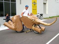 #BikeCostume of the Day: All-out Elephant