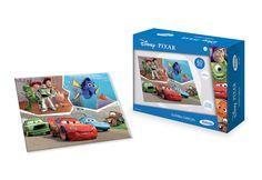 1841.0 - Quebra-Cabeça 60 Peças Disney Pixar | Quebra-cabeças em madeira reflorestada. | Faixa etária: + 4 anos | Medidas: 24 x 5 x 18 cm | Licenciados | Xalingo Brinquedos | Crianças
