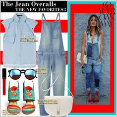 """""""Jean Overalls-THE NEW FAVORITES!"""" by girlsboysclosets on Polyvore"""