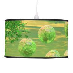 Spring Renewal, Abstract Lemon Lime Life Force Hanging Lamp $101.00