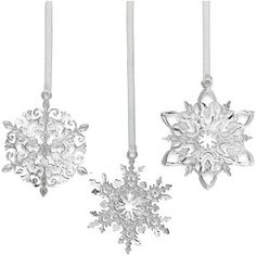 2012 Miniature Snowflake Christmas Ornaments
