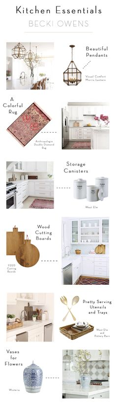 Before I complete a kitchen project, I always love to style it with a few essentials. Styling a kitchen doesnt require a lot of items. I like to keep the space minimal but add a few decorative items. To see all of my favorite kitchen essentials see below. Kitchen Dinning, Kitchen Decor, Kitchen Design, Cocinas Kitchen, Creative Home, Home Decor Accessories, Kitchen Accessories, Beautiful Kitchens, Kitchen Styling
