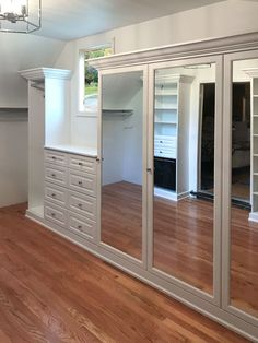 Closet Works works with tricky room layouts to create your dream dressing room #slopedceiling #slopedceilingcloset #angledceiing #slantedceiling #closet #dressingroom #customcloset