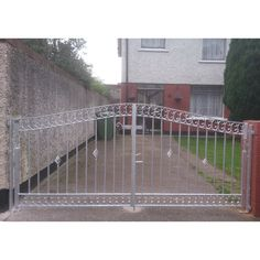 Metal Gates - Dublin Quality Gates - Gates and Railings Made to Order Metal Gate Door, Metal Gates, Wooden Garden Gate, Garden Gates, Gates And Railings, Side Gates, Security Door, Dublin, Deck