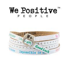 Bracciale We Positive Bianco Multicolor Collezione Holiday Pelle HD013