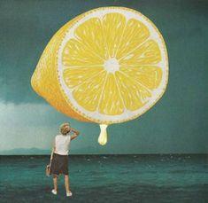"Saatchi Art Artist Maya Mladenovic; Collage, ""When life gives you lemons..."" #art"