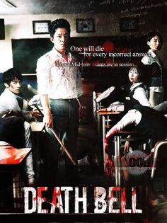 Gosa / Death bell (W) Horror Thriller. Advanced students who take a special class are being tortured by their class rank. Asian Horror Movies, Japanese Horror Movies, Horror Films, Scary Movies, Hd Movies, Movies And Tv Shows, Movie Tv, Kim Bum, Boys Over Flowers