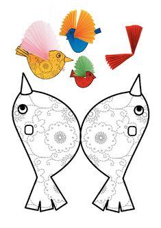 27 New ideas diy paper birds kids Bird Crafts, Animal Crafts, Diy For Kids, Crafts For Kids, Paper Birds, Bird Theme, Paper Toys, Summer Crafts, Art Lessons
