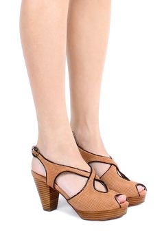 Jeffrey Campbell Shoes FLORES Sandals in Nude Perf Suede