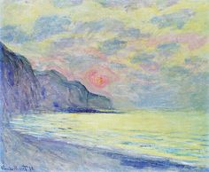 Claude Monet Three fishing boats Poster Kunstdruck Bild 60x70cm