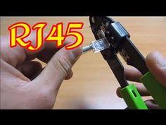 How To Make Rj45 Network شرح طريقة تركيب كابل الأنترنيت Rj45 Youtube Youtube Networking Interactive