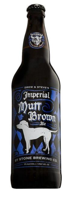 Stone Spotlight Series: Drew & Steve's Imperial Mutt Brown Ale (American Strong Ale) Dark brown and very rich. A lot to ferment here. This beer is dangerously easy to drink. Plenty of chocolate and caramel. Some nuts and roasted notes. Citrus and earth under that. Really good.