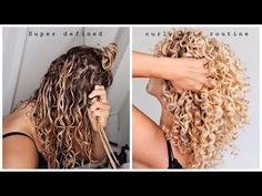 Super defined CURLY HAIR routine - what a real hair routine .-Super defined CURLY HAIR routine – what a real hair routine looks like Super defined CURLY HAIR routine – what a real hair routine looks like - Curly Hair With Bangs, Curly Hair Tips, Curly Hair Care, Short Curly Hair, Super Curly Hair, Curly Hair Products, Style Curly Hair, Colored Curly Hair, Deva Curl Products