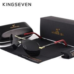 Cheap shades for men, Buy Quality brand polarized sunglasses directly from China polarized sunglasses Suppliers: KINGSEVEN Men Vintage Aluminum HD Polarized Sunglasses Classic Brand Sun glasses Coating Lens Driving Shades For Men/Wome Sunglasses For Your Face Shape, Sun With Sunglasses, Polarized Sunglasses, Mens Sunglasses, Vintage Sunglasses, Mirrored Sunglasses, Men's Accessories, Shopping Pas Cher, Vintage Man