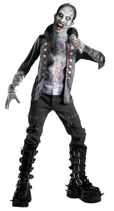 Boys Shock Rock Zombie Rockstar Costume Zombie Costumes - Mr. Costumes  Nicky's costume idea.
