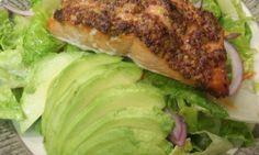 wholegrain mustard crusted salmon