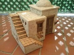 Foro de Belenismo - Anuncios comerciales - particulares -> Complementos de belén en venta Cardboard Box Houses, Clay Houses, Miniature Houses, Nativity House, Fontanini Nativity, Diy And Crafts, Crafts For Kids, Bible Drawing, Christian Crafts