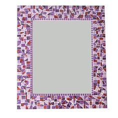 Mosaic Mirror Purple and Red Mirror Mosaic, Glass Mosaic Tiles, Mosaic Wall, Wall Mirror, Purple Bathrooms, Custom Mirrors, Soothing Colors, Complimentary Colors, Different Textures