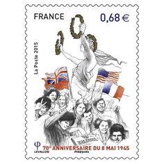 Timbre : 2015 - 70e anniversaire du 8 mai 1945   WikiTimbres