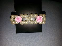 pearls and roses for a bridesmaid